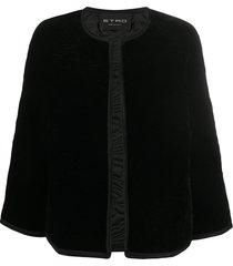 etro quilted cape - black