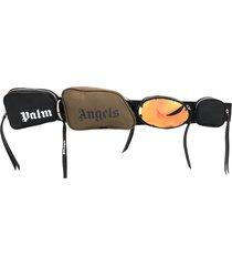 palm angels multi-pocket crossbody bag - black