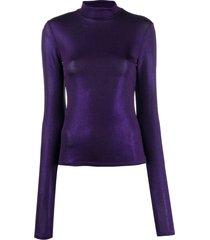 andamane turtleneck long-sleeved sweatshirt - purple