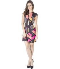 vestido estampa geométrica alphorria a. cult