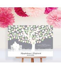 obraz na płotnie - drzewo zakochanych - 50x70 cm