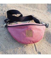 nerka / torebka mili belt bag l - pudrowy róż