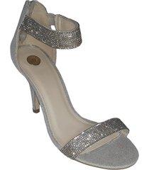 sandalia anastasia plateado we love shoes