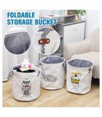 saco de tecido de desenho animado para cesto de roupa suja grande dobrável roupas sujas diversos brinquedos caixa de cestas de armazenamento decoração para casa cesta de tecido