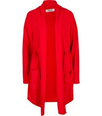 giacca in felpa lunga con coulisse maite kelly (rosso) - bpc bonprix collection