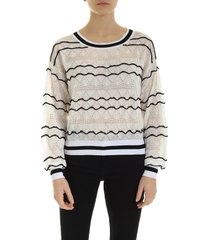 ballantyne embossed sweater