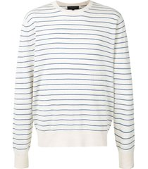 rag & bone harlow striped sweater - white