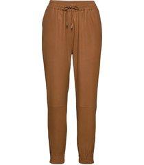 pants leather leggings/byxor brun depeche