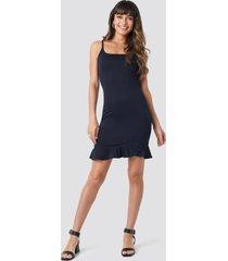 trendyol thin strap mini dress - blue