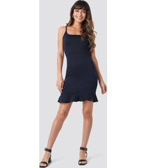 trendyol thin strap mini dress - blue