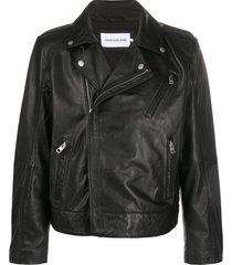 calvin klein jeans relaxed-fit biker jacket - black