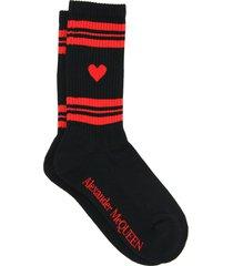 alexander mcqueen sport socks heart skull