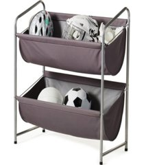 neatfreak multipurpose 2-tier deep fabric bin utility shelf
