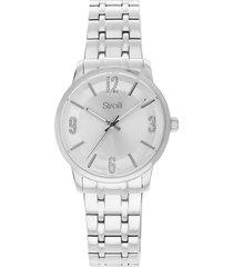 orologio solo tempo stroili linea georgia cinturino e cassa in acciaio silver per donna