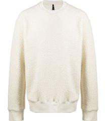 oamc textured crew-neck sweatshirt - neutrals