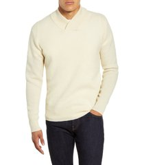 men's schott nyc waffle knit thermal wool blend pullover, size xx-large - white