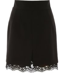 dolce & gabbana mini skirt with lace trim