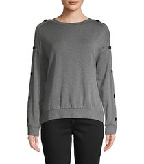watch tower button-sleeve sweater