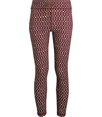 diamond-print midi capri tights
