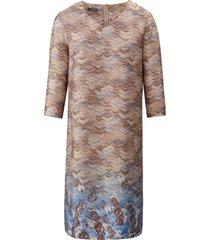 jurk met 3/4-mouwen en v-hals van basler multicolour