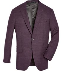 awearness kenneth cole burgundy check slim fit sport coat