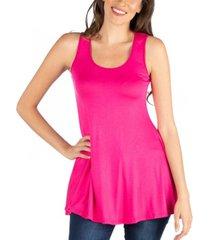 24seven comfort apparel women's scoop neck sleeveless tunic top