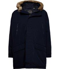 woodside long utlty prka night outerwear jackets anoraks blauw levi´s men