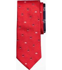 corbata knot rojo brooks brothers
