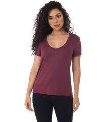 t-shirts daniela cristina gola v profundo 10269 26 roxo - roxo - g - feminino