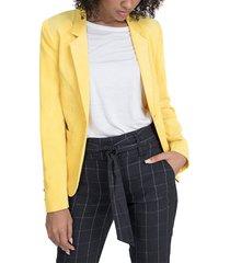 blazer io fantasía amarillo - calce regular