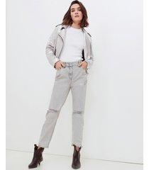jeans a sigaretta con strappi