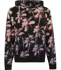 saint laurent palm tree printed hoodie