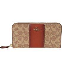coach accordion zip around wallet