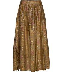 cari knälång kjol brun rabens sal r