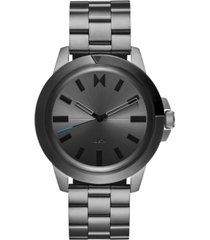 mvmt men's minimal sport gunmetal-tone stainless steel bracelet watch 45mm