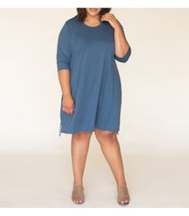ori women's plus size signature french terry dress