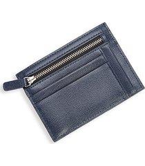 royce new york men's rfid blocking saffiano leather card case - navy blue