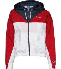 hooded full zip sweatshirt sommarjacka tunn jacka multi/mönstrad champion