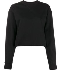 calvin klein jeans cropped loose fit sweater - black