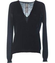 rick owens knit sweater soft v neck