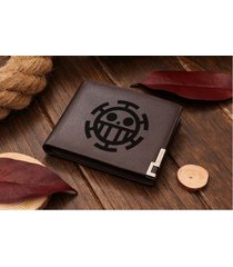 one piece trafalgar law heart pirates leather wallet