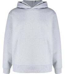 acne studios classic fit hooded sweatshirt - grey