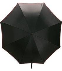 alexander mcqueen guarda-chuva com logo - preto