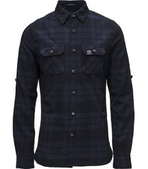 lumberjack l/s shirt overhemd casual blauw superdry
