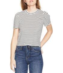 bcbgeneration striped puff-sleeve t-shirt