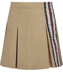 burberry beige girl skirt with thomas burberry motif