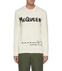 logo jacquard sweater
