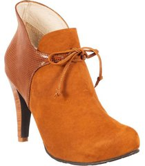 botin formal para dama san polos at-137 miel