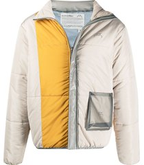 a-cold-wall* colour-block padded jacket - black