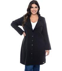 casaco forma rara trench coat riviera preto